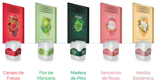 Aromas disponibles Scentbox - Equitek